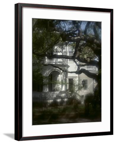 Trees in Front of a Mansion--Framed Art Print