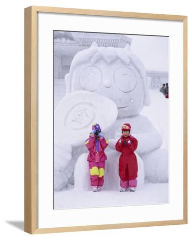 Buddha Face, Buddha Statue, Tokyo, Honshu, Japan--Framed Art Print