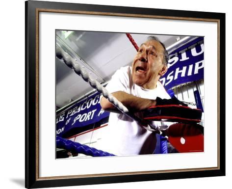 Boxing Coach in a Boxing Ring--Framed Art Print