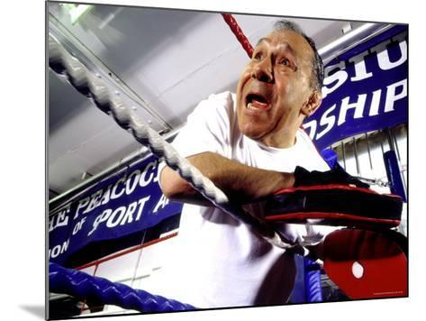 Boxing Coach in a Boxing Ring--Mounted Photographic Print