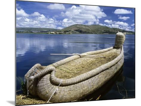 Reed Boat Uros Islands Lake Titicaca Peru--Mounted Photographic Print