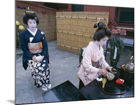 Apprentice Geisha (Maiko) Performing Tea Ceremony, Tokyo, Honshu, Japan--Mounted Photographic Print