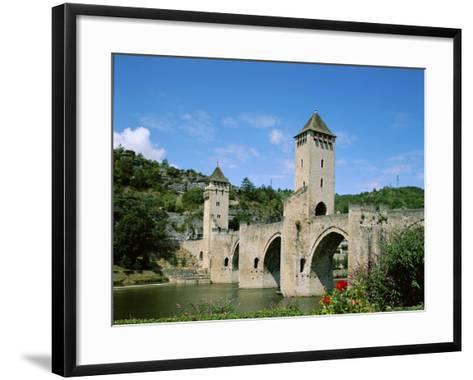 Pont Valentre and Lot River, Cahors, Lot Region, France--Framed Art Print