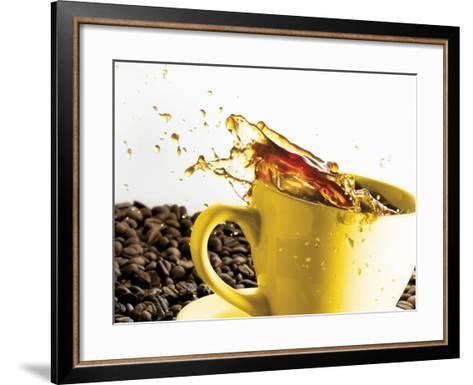 Coffee Spilling Out of a Cup-Dieter Heinemann-Framed Art Print