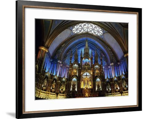 Interior of the Notre Dame Cathedral, Montreal, Quebec, Canada--Framed Art Print