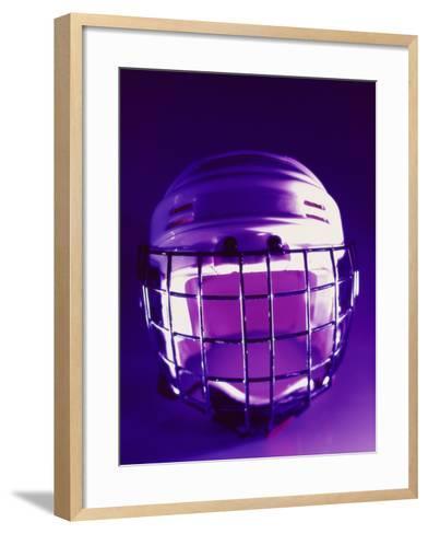 Close-up of a Hockey Helmet--Framed Art Print