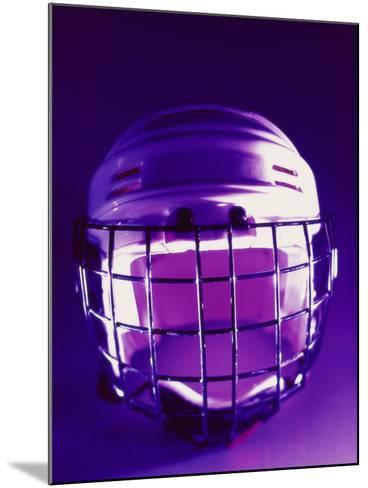 Close-up of a Hockey Helmet--Mounted Photographic Print