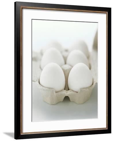 A Carton of Six White Eggs--Framed Art Print