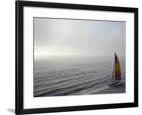 Sailboat in the Sea--Framed Art Print