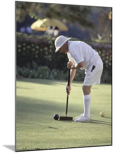 A Game of Croquet--Mounted Photographic Print