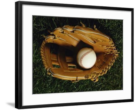 Baseball Still Life--Framed Art Print