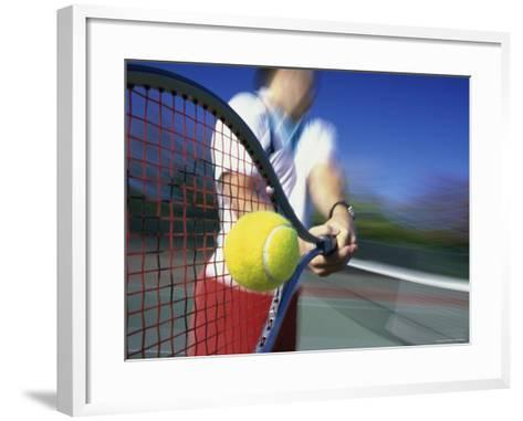 Making Contact with the Ball--Framed Art Print