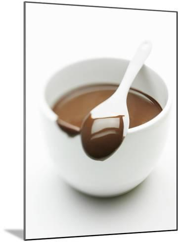 Chocolate Coated Spoon on a Bowl of Melted Chocolate-Silvia Baghi-Mounted Photographic Print