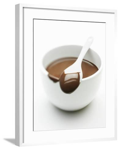 Chocolate Coated Spoon on a Bowl of Melted Chocolate-Silvia Baghi-Framed Art Print