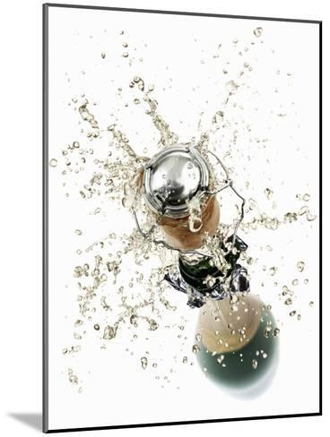 Cork Flying Out of a Sparkling Wine Bottle-Kr?ger & Gross-Mounted Photographic Print