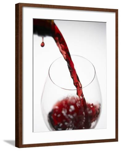 Pouring Red Wine-Joerg Lehmann-Framed Art Print