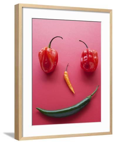 A Face Made of Chilli Peppers-Malgorzata Stepien-Framed Art Print