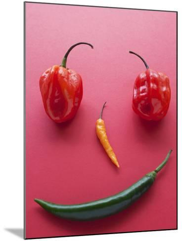 A Face Made of Chilli Peppers-Malgorzata Stepien-Mounted Photographic Print