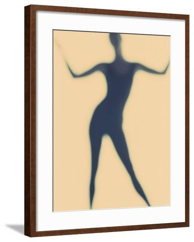 Silhouette of a Woman Standing--Framed Art Print