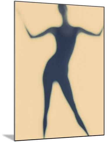 Silhouette of a Woman Standing--Mounted Photographic Print