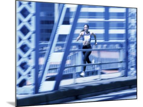 Young Woman Running--Mounted Photographic Print