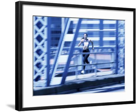 Young Woman Running--Framed Art Print