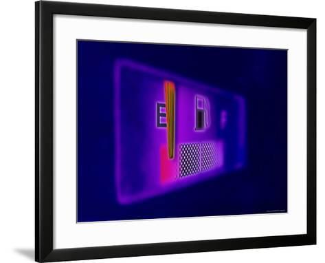 Gas Gauge Showing Empty--Framed Art Print