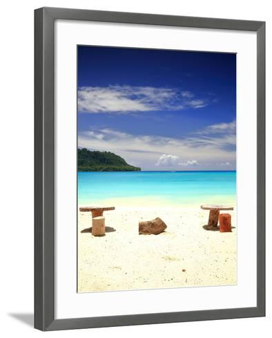 Beach-Port Olry-Espiritu Santo-Vanuatu- livcool-Framed Art Print