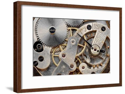 Vintage Clock Machinery-MIGUEL GARCIA SAAVED-Framed Art Print