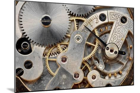 Vintage Clock Machinery-MIGUEL GARCIA SAAVED-Mounted Photographic Print