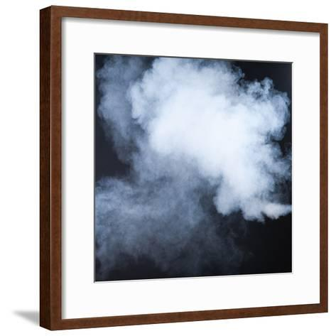 Smoke Isolated on Black- inna_astakhova-Framed Art Print