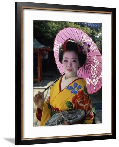 Maiko Girl, Kyoto, Japan--Framed Art Print