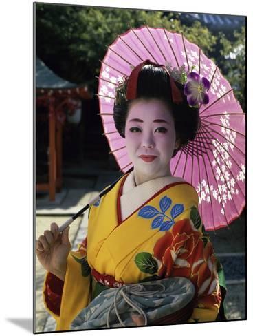 Maiko Girl, Kyoto, Japan--Mounted Photographic Print
