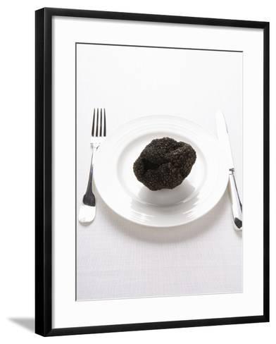 A Truffle on a White Plate--Framed Art Print