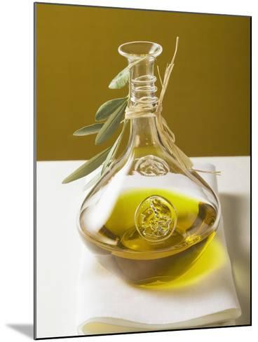 Olive Oil in Carafe with Olive Branch--Mounted Photographic Print