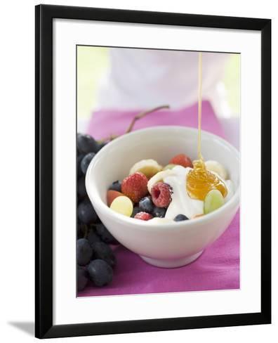 Honey Running onto Fruit Muesli with Yoghurt--Framed Art Print