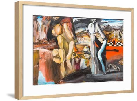 Metamorphosis of Narcissus-shotsstudio-Framed Art Print