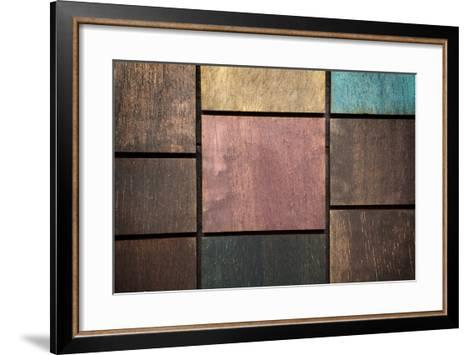 Wooden Background-blackboard1965-Framed Art Print