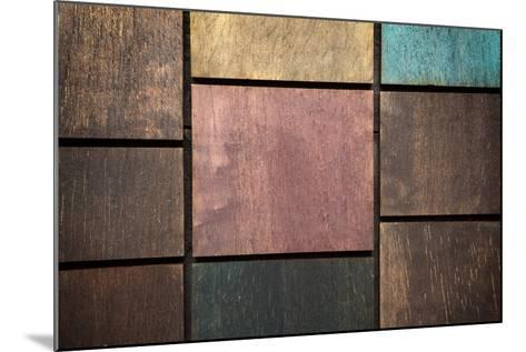 Wooden Background-blackboard1965-Mounted Photographic Print