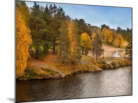 Autumn in Lapland-Roman Milert-Mounted Photographic Print