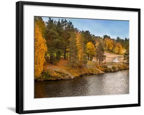 Autumn in Lapland-Roman Milert-Framed Art Print
