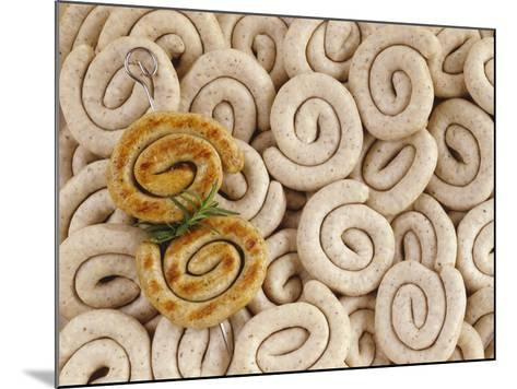 Grilled Sausage Coils on Many Fresh Sausages-Luzia Ellert-Mounted Photographic Print