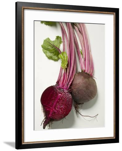 Beetroot with Leaves, One Halved, Close-Up--Framed Art Print