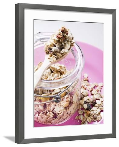Muesli with Dried Fruit in Preserving Jar--Framed Art Print