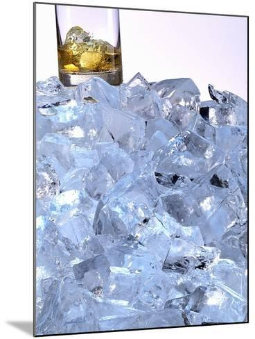 A Whiskey Glass on a Mountain of Ice Cubes-Michael Meisen-Mounted Photographic Print