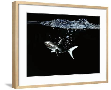 A Shark under Water-Hermann Mock-Framed Art Print
