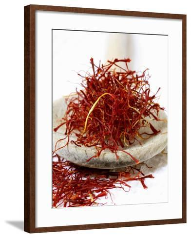 Saffron Threads on a Wooden Spoon-Frank Tschakert-Framed Art Print