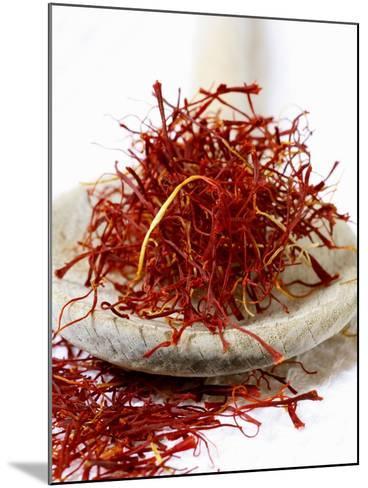Saffron Threads on a Wooden Spoon-Frank Tschakert-Mounted Photographic Print