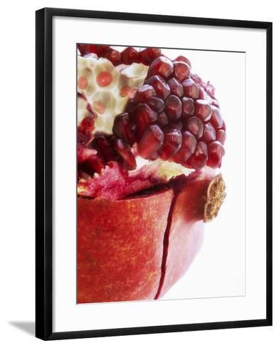 Opened Pomegranate, Close-Up-Dieter Heinemann-Framed Art Print