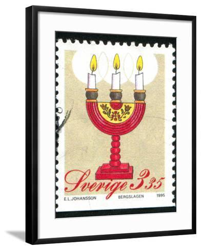 Christmas Candlesticks-rook76-Framed Art Print